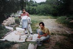hinten links, beige Doka - 1993 beim Hausbau, gehörte vermutl dem Baumeister