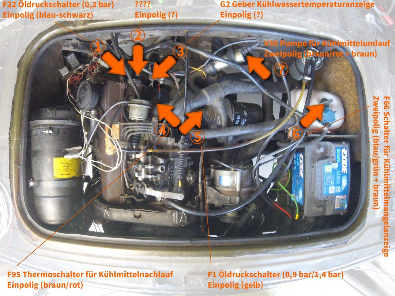 Elektrische Anschlüsse im Motorraum (Geber/Schalter) - Technikecke ...